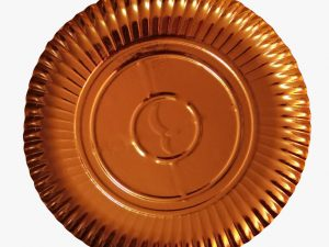 Farfurii carton auriu